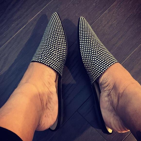 37ea058d2d Wild Diva Shoes | Lounge Pippa Rhinestone Mule Slide | Poshmark